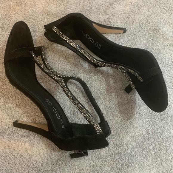 Aldo Black 3.5 inch Heels